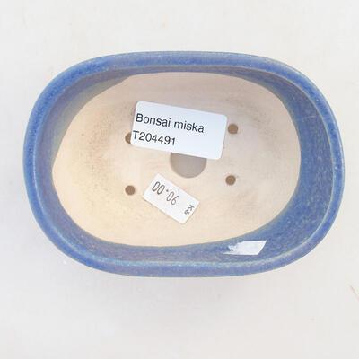 Ceramiczna miska bonsai 11,5 x 8 x 5 cm, kolor niebieski - 3