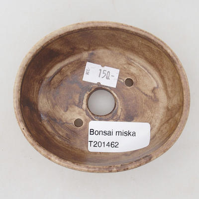 Ceramiczna miska bonsai 9,5 x 8,5 x 3,5 cm, kolor beżowy - 3