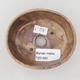 Ceramiczna miska bonsai 9,5 x 8,5 x 3,5 cm, kolor beżowy - 3/3