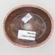 Ceramiczna miska bonsai 9,5 x 8,5 x 3,5 cm, kolor brązowo-różowy - 3/3