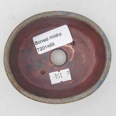 Ceramiczna miska bonsai 9,5 x 8,5 x 3,5 cm, kolor brązowo-niebieski - 3