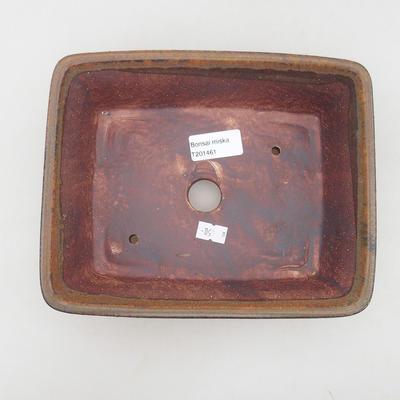 Ceramiczne bonsai miska 21,5 x 18 x 7 cm, kolor brązowy - 3