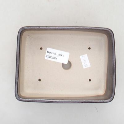 Ceramiczna miska bonsai 15 x 10,5 x 5 cm, kolor brązowy - 3