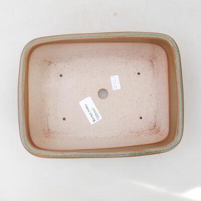 Ceramiczna miska bonsai 22 x 17 x 7 cm, kolor brązowy - 3