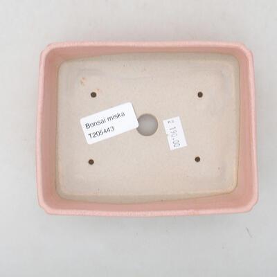Ceramiczna miska bonsai 13,5 x 10,5 x 3,5 cm, kolor różowy - 3