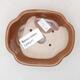 Ceramiczna miska bonsai 10 x 8,5 x 3 cm, kolor brązowy - 3/3