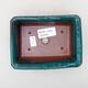 Ceramiczna miska bonsai 13,5 x 10 x 3,5 cm, kolor zielony - 3/3