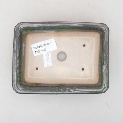 Ceramiczna miska bonsai 13,5 x 10 x 3,5 cm, kolor zielony - 3