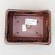 Ceramiczna miska bonsai 13 x 10 x 5 cm, kolor czarno-brązowy - 3/3