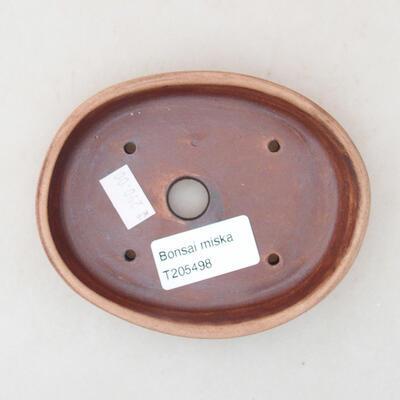 Ceramiczna miska bonsai 11,5 x 9 x 2 cm, kolor brązowy - 3