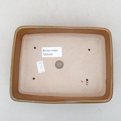 Ceramiczna miska bonsai 17,5 x 13 x 5 cm, kolor brązowy - 3