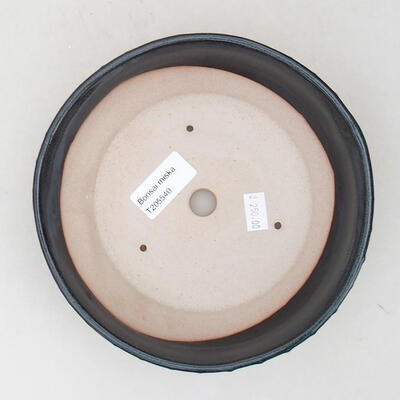 Ceramiczna miska bonsai 18 x 18 x 5 cm, kolor szary - 3