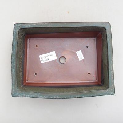 Ceramiczna miska bonsai 20 x 15,5 x 6 cm, kolor szary - 3