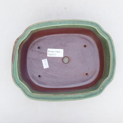 Ceramiczna miska bonsai 21,5 x 16,5 x 7 cm, kolor zielony - 3