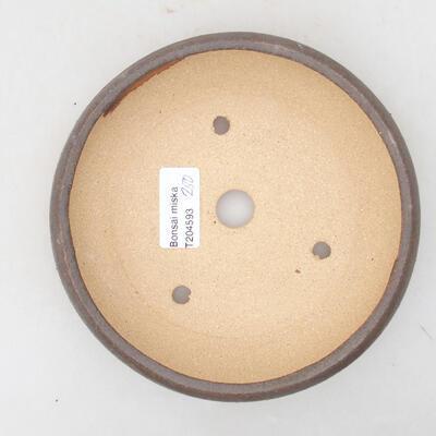 Ceramiczna miska bonsai 15 x 15 x 3,5 cm, kolor brązowy - 3