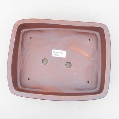 Ceramiczna miska bonsai 25 x 19,5 x 6,5 cm, kolor szary - 3