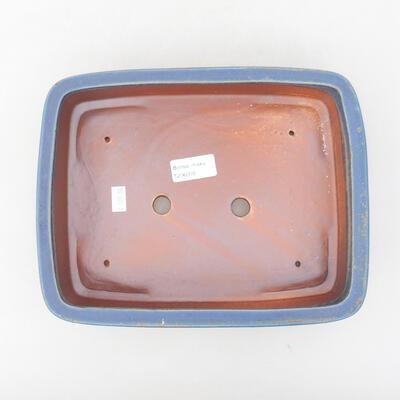 Ceramiczna miska bonsai 25 x 19,5 x 6,5 cm, kolor niebieski - 3