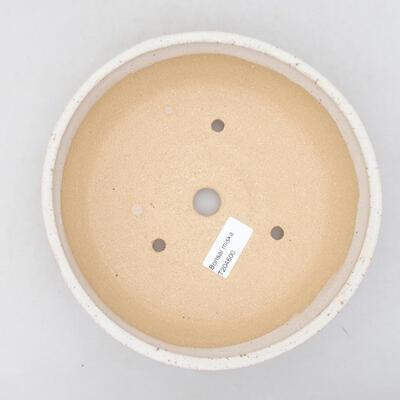 Ceramiczna miska bonsai 20 x 20 x 5,5 cm, kolor beżowy - 3