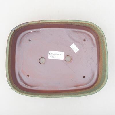 Ceramiczna miska bonsai 23 x 17,5 x 5 cm, kolor zielony - 3