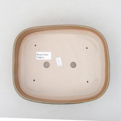 Ceramiczna miska bonsai 23 x 17,5 x 5 cm, kolor brązowy - 3