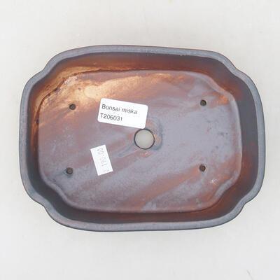 Ceramiczna miska bonsai 17,5 x 13,5 x 5 cm, kolor metalowy - 3