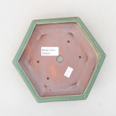 Ceramiczna miska bonsai 18 x 16 x 3,5 cm, kolor zielony - 3
