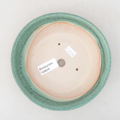 Ceramiczna miska bonsai 17 x 17 x 4,5 cm, kolor zielony - 3