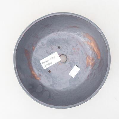 Ceramiczna miska bonsai 17 x 17 x 4,5 cm, kolor metalowy - 3