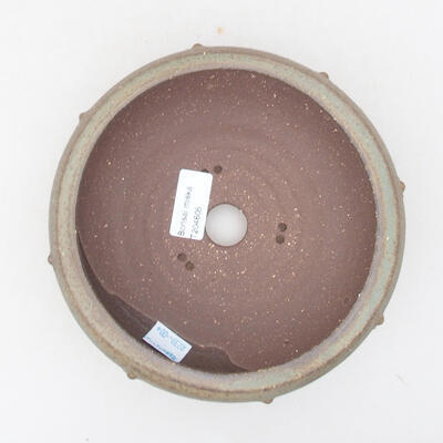 Ceramiczna miska bonsai 16 x 16 x 6,5 cm, kolor brązowo-zielony - 3