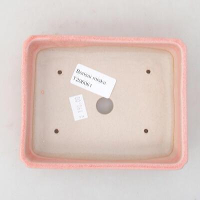Ceramiczna miska bonsai 13,5 x 11 x 3,5 cm, kolor różowy - 3