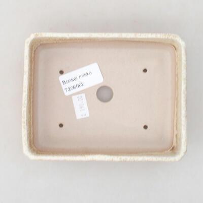 Ceramiczna miska bonsai 13,5 x 11 x 3,5 cm, kolor beżowy - 3