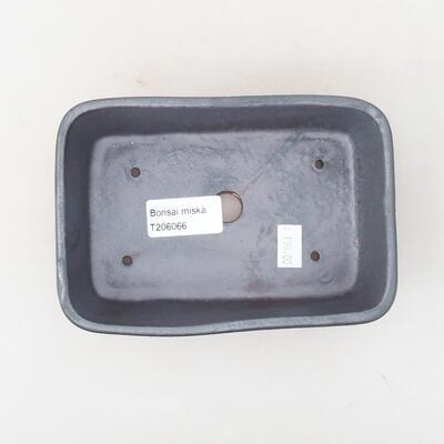 Ceramiczna miska bonsai 15,5 x 10,5 x 5 cm, kolor metalowy - 3