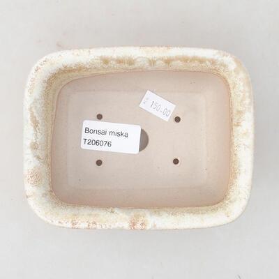 Ceramiczna miska bonsai 13 x 10 x 5 cm, kolor beżowy - 3