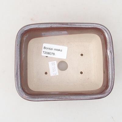 Ceramiczna miska bonsai 13 x 10 x 5 cm, kolor brązowy - 3