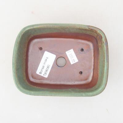 Ceramiczna miska bonsai 13 x 10 x 5,5 cm, kolor zielony - 3