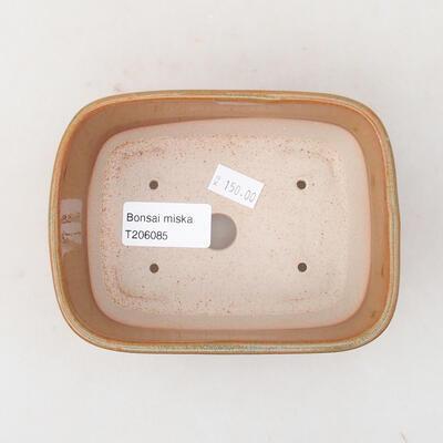 Ceramiczna miska bonsai 13 x 10 x 5,5 cm, kolor brązowy - 3