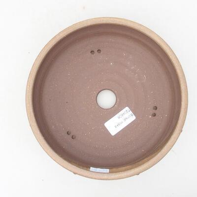 Ceramiczna miska bonsai 18 x 18 x 5,5 cm, kolor brązowy - 3