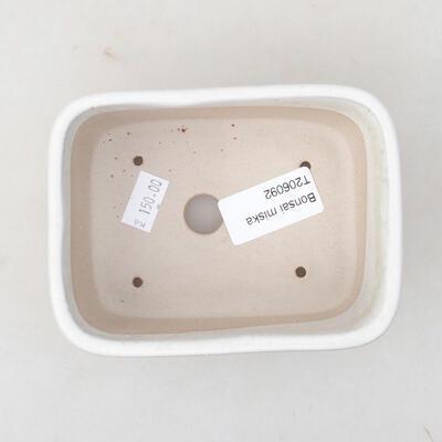 Ceramiczna miska bonsai 13 x 10 x 5,5 cm, kolor biały - 3