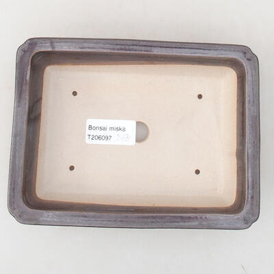 Ceramiczna miska bonsai 17 x 12,5 x 3,5 cm, kolor metalowy - 3