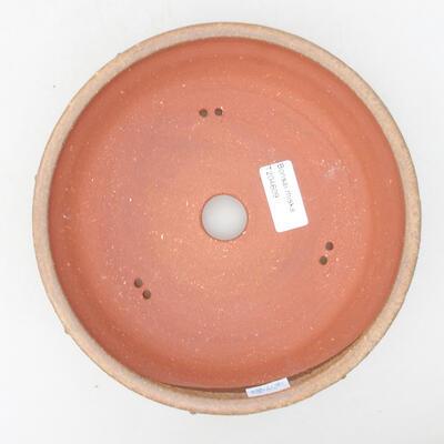 Ceramiczna miska bonsai 19 x 19 x 5,5 cm, kolor brązowy - 3