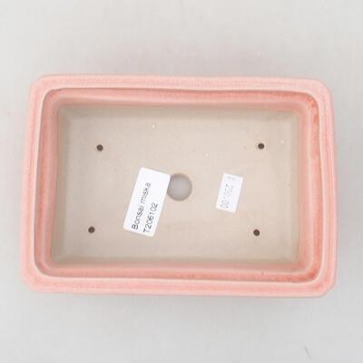 Ceramiczna miska bonsai 16,5 x 11 x 5 cm, kolor różowy - 3