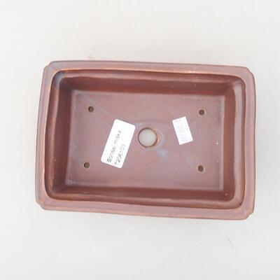 Ceramiczna miska bonsai 16,5 x 11 x 5 cm, kolor metalowy - 3