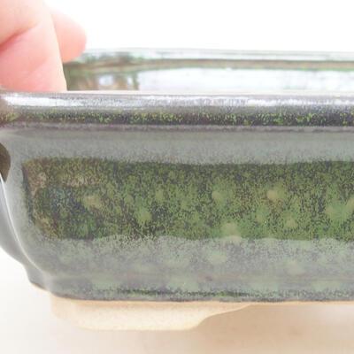 Ceramiczna miska bonsai 17 x 13 x 4,5 cm, kolor zielony - 3