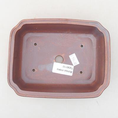 Ceramiczna miska bonsai 17 x 13 x 4,5 cm, kolor szary - 3