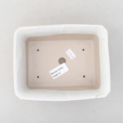 Ceramiczna miska bonsai 17,5 x 14 x 7 cm, kolor biały - 3