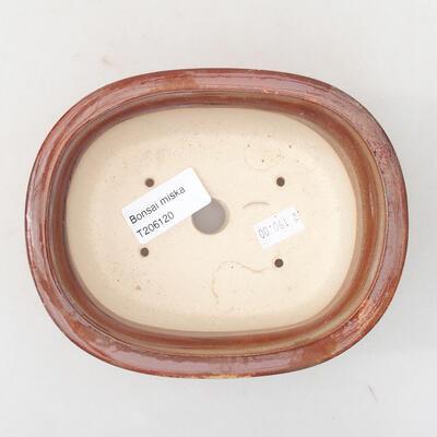 Ceramiczna miska bonsai 14 x 11 x 5 cm, kolor brązowy - 3