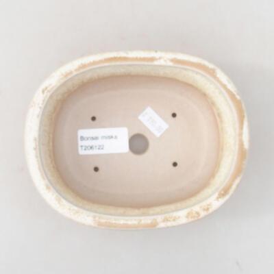 Ceramiczna miska bonsai 14 x 11 x 5 cm, kolor beżowy - 3