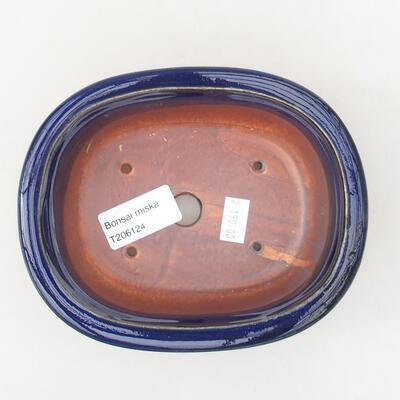 Ceramiczna miska bonsai 14 x 11 x 5 cm, kolor niebieski - 3