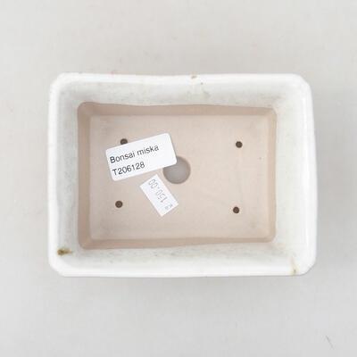 Ceramiczna miska bonsai 13 x 10 x 5 cm, kolor biały - 3