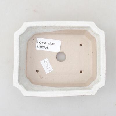 Ceramiczna miska bonsai 12,5 x 10 x 4 cm, kolor biały - 3